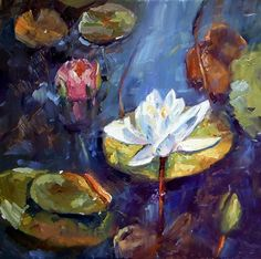 July 21, 2013 Painted Water Lilies For The First Time At Stockton Springs, Maine! | Plein Aire in Maine - by Susan Renee Lammers