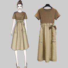 2019 Casual Fashion Trends For Women - Fashion Trends Korea Fashion, Asian Fashion, Girl Fashion, Fashion Dresses, Fashion Looks, Womens Fashion, Fashion Trends, Illustration Mode, Dress Sketches