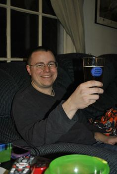 A great note and picture from one of the projects I did for Christmas this year. Hi Kevin,  I just wanted to say thank you again for the great work you did on these glasses and pass along my husband's appreciation.  He was very excited to get them today and didn't waste any time in testing out their ability to hold his home brew.  He was thrilled with how good they looked.  I hope you and your family had a wonderful Christmas!  Angela Husband Appreciation, Very Excited, Home Brewing, I Hope You, Pint Glass, Hold On, Note, Glasses, Projects