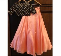 croptop skirt Shop now! Available at all our retail stores in more attractive colors. Lehenga Choli, Blouse Lehenga, Lehenga Indien, Plain Lehenga, Orange Lehenga, Simple Lehenga, Lehnga Dress, Indian Lehenga, Anarkali
