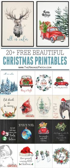 20 Beautiful Free Christmas Printables Free watercolor Christmas printables Free Christmas printables Free printable watercolor art for Christmas Free printable holid. Decoration Christmas, Noel Christmas, Christmas Signs, Country Christmas, Winter Christmas, Christmas 2019, Diy Christmas Wall Decor, Free Christmas Cards, Christmas Images Free