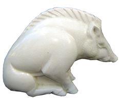 Lemanceau French Art Deco Ceramic Boar, c. 1930 SOLD