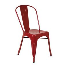 Zipcode Design Louisa Side Chair Frame Finish: Red