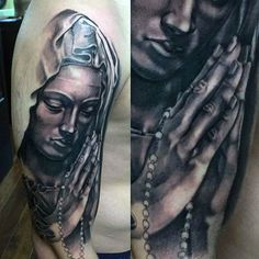 Image result for Virgin Mary Praying Tattoo Designs