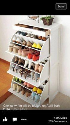 Awesome shoe rack idea!!