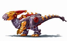 I'm creating my own new Dinobot team inspired by the style of the classic g1 Dinobots from transformers. This is Hammerhead the…
