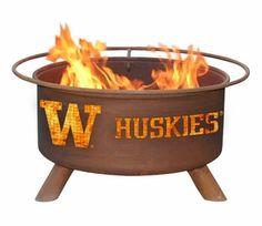 University of Washington Huskies Metal Fire Pit