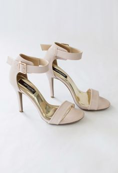 """If you could find me a pair just like this with a 2 to 2.5"""" heel, that would be amazing!   Alyssa Heels // Classic Nude Pumps"""
