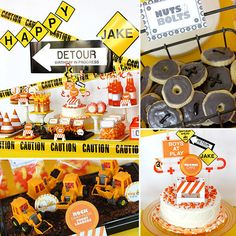 We have a serious party crush on Debbie of Wants and Wishes Design, the mastermind behind this construction-themed birthday party. Moms of boys know it can be hard to translate their guys' greatest obsessions into adorable parties, but this soiree