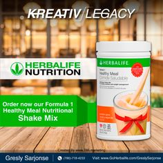 Treat your body by eating a healthy, balanced meal! Not only are these shakes easy to make, they're also delicious. ASK ME HOW 786-718-4233 #KreativLegacy #Miami #WestMiami #HerbalifeMilkshake #Healthy #Fitness #Health #Benefits #Lifestyle #Nutrition #Results #OurProducts #Herbalife #Life #Healthy #DeliciousFlavor #HerbalifeNutrition
