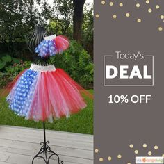 """Today Only! 10% OFF this item.  Follow us on Pinterest to be the first to see our exciting Daily Deals. Today's Product: Girls tutu Size 7-8 girls July 4th matching doll tutu Made to fit American Girl®  18 inch Bitty Baby®  """"Stars and Stripes"""" red white blue Buy now: https://small.bz/AAjYYbm #etsy #etsyseller #etsyshop #etsylove #etsyfinds #etsygifts #musthave #loveit #instacool #shop #shopping #onlineshopping #instashop #instagood #instafollow #photooftheday #picoftheday #love #OTstores…"""