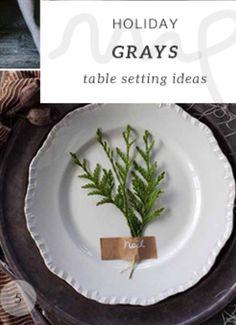 Einfache rustikale Tischdeko