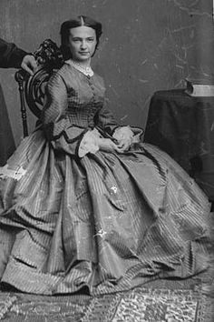 "Elizabeth ""Libby"" Custer, wife of General George Armstrong Custer"