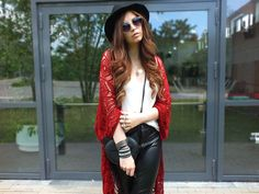 Fashion Love: FEDORA, COACHELLA CROCHET CARDIGAN & HEART SUNGLASSES