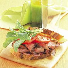 Steak Sandwich with Grilled Onions