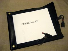 wine list holder(Leather)