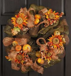 An easy way to transition from summer to fall is to hang a wreath on your front door or porch. Autumn wreaths can reflect the natural landscape, design and architecture of a house or personal decorating style. Take a look at wreaths that make decorating for fall fast and fun.: Deco Mesh Wreaths