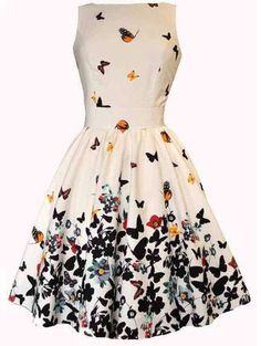 Shop White V Back Butterfly Print Flare Dress online. SheIn offers White V Back Butterfly Print Flare Dress & more to fit your fashionable needs.