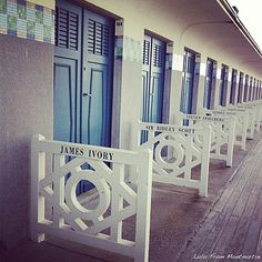Deauville ~ Normandy ~ France ~ Beach Changing Rooms
