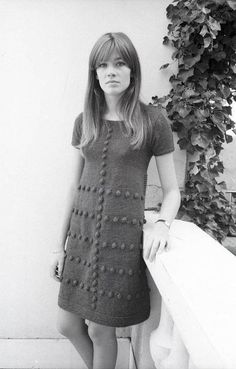 Francoise Hardy- love her knitted dress!
