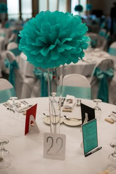 {Snowy} Spring Wedding in Tiffany Blue and Red