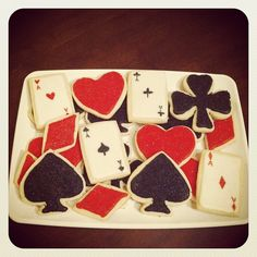 playing card cookies