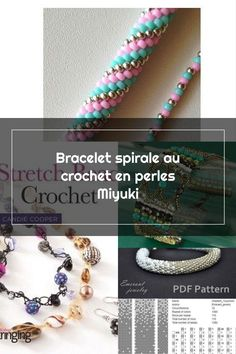 Spiral Crochet Pearl bracelet, Spiral Crochet Pearl bracelet Miyuki spiral bead crochet bracelet...,  #bracelet #crochet #Pearl #Spiral #spiralecrochetperles Spiral Crochet Pattern, Bead Crochet, Crochet Patterns, Pearl Bracelet, Pearls, Bracelets, Jewelry, Spirals, Beaded Crochet