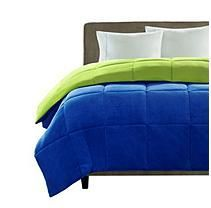 Micro Plush Comforter - Full/Queen - Blue and Green