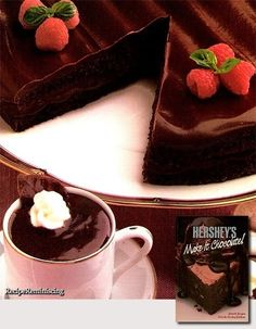 All-Chocolate Boston Cream Pie & Chocolate Pots de Creme / Boston Sjokoladekrempai & Sjokolade Pot de Creme