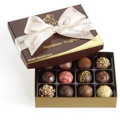 Chocolate Gift Baskets to USA - Send A Truffle is Worth A Thousand Thank Yous to USA and around the world. Best Chocolate Gifts, Delicious Chocolate, Kosher Gift Baskets, Dark Chocolate Truffles, Gifts Delivered, Thank You Gifts, Online Gifts, Champagne Gifts, Flower Baskets