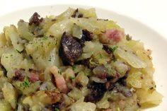 Receta de Trinxat de la Cerdanya con butifarra negra basada en uno de los platos más tradicionales de la cocina de invierno del norte de Catalunya.