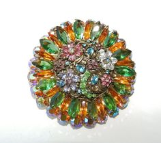 This is two vintage brooches made into one.  I think I'd like them better separate.