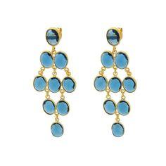 Blue Chalcedony Chandelier Earrings