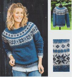 Sweater med stjernebort - strikkes i Håndværksgarn fra Hjelholt