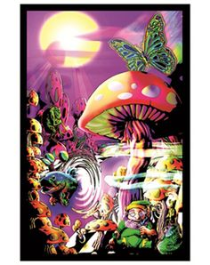 Awesome blacklight poster - You can find all your smoking accessories right here on Santa Monica #Blacklight #Teagardins #SmokeShop