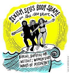 Yep!!!  (by www.jo-harrison.co.uk) #misogyny #burkini