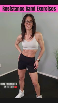 Bbg Workouts, Workout Videos, At Home Workouts, Resistance Band Exercises, Body Exercises, Fitness Workout For Women, Transformation Body, Yoga, Fitness Inspiration