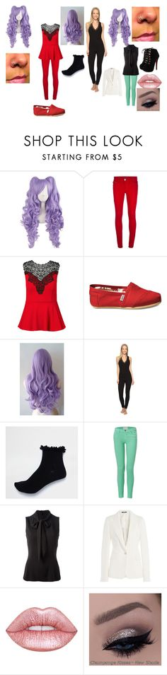 """""""Untitled #186"""" by catvalentine24 ❤ liked on Polyvore featuring DL1961 Premium Denim, City Chic, TOMS, Josie, River Island, Current/Elliott, Dolce&Gabbana, Maison Margiela and Lime Crime"""