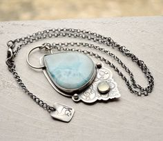 Hey, I found this really awesome Etsy listing at https://www.etsy.com/listing/220375990/silver-larimar-statement-necklace-with