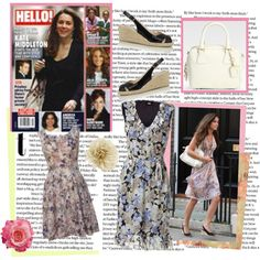 """""""Kate Middleton - The Early Days Out in the Sun Florals"""" by perth-fashion-stylist on Polyvore"""
