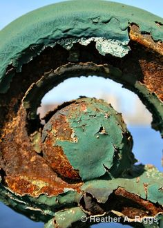 Iron Work Bridge Detail Green and Rust by shyphotog on Etsy, $14.00