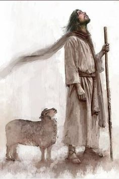 picture of jesus christ with a lamb where both are looking up staff in hand Images Of Christ, Pictures Of Jesus Christ, Lord Is My Shepherd, The Good Shepherd, Jesus Art, God Jesus, Catholic Art, Religious Art, Jesus Christus