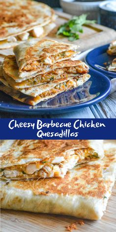 Lunch, dinner, even a Game Day snack these quick & easy Cheesy Barbecue Chicken Quesadillas are sure to be a home run with whatever crew you're serving. These quesadillas are packed with yummy cheese and chicken and are great for your whole family to enjoy #chickenrecipe #quesadilla #chickenquesadilla