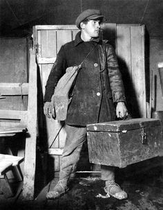 """""""Working Class Heroes"""" Shoes are worn and tied onto him. Photo by Max Alpert Vintage Photographs, Vintage Photos, Man 2, Vintage Outfits, Vintage Fashion, Working Class, Vintage Denim, Vintage Man, Vintage Nautical"""