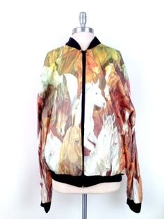 90s Tyvek Stallion Bomber Jacket by FashionRebirth on Etsy, $38.00
