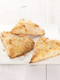 Pineapple Coconut Scones Recipe--uses Chobani Pineapple yogurt, no pineapple fruit