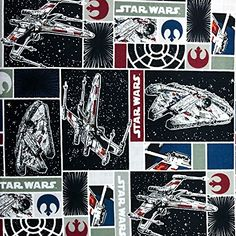 Officially Licensed Star WarsPainted Characters 100/% Cotton Fabric Great for Quilting, Sewing, Craft Projects, Throw Pillows, Quilts /& More 1//2 Yard X 44 1//2 Yard