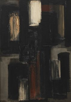 Pierre Soulages (French, b. 1919), Peinture 92 x 65 cm, 1955, 1955. Oil on canvas, 92 x 65 cm.