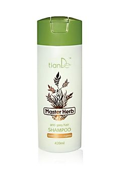 Shampoo Anti Grey Hair  Provides active inflow of nutrients and oxygen to hair follicle. Enhances blood circulation and metabolism in scalp, improves natural hair protection. Stimulates formation of melanin, restores natural pigmentation of hair, prevents appearance of grey hairs. Recommended for grey hair.
