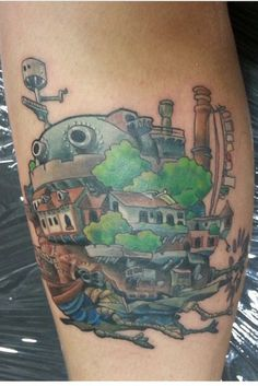 Howls Moving Castle tattoo. Done by Shaun Flinn at 570 tattooing co.